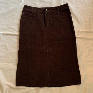 Eddie Bauer Brown Corduroy Skirt-NWT
